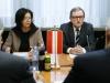 v.li.: Nationalratsabgeordnete Christine Muttonen (S) und Zweiter Nationalratspräsident Karlheinz Kopf (V) während der Aussprache